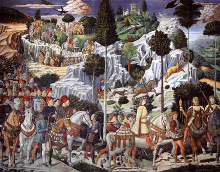 Benozzo Gozzoli - The Journey of Balthasar