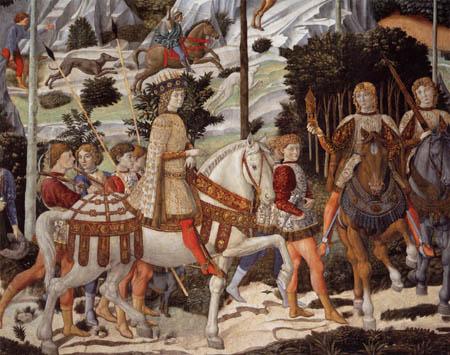 Benozzo Gozzoli - The Journey of Balthasar, Detail