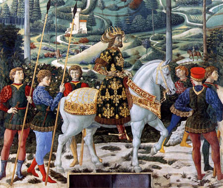 Benozzo Gozzoli - The Journey of Melchior, Detail