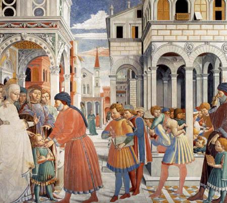 Benozzo Gozzoli - The school of Thagaste