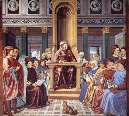 Benozzo Gozzoli - Agostino enseña en Roma
