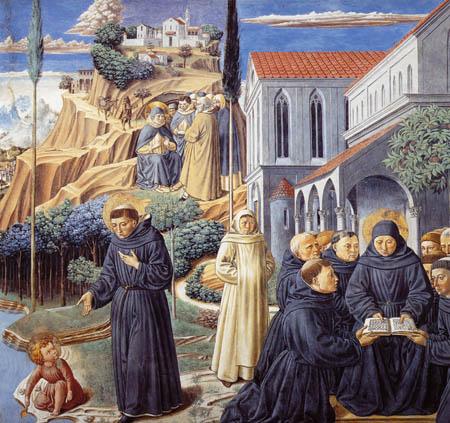 Benozzo Gozzoli - La Santa Trinidad