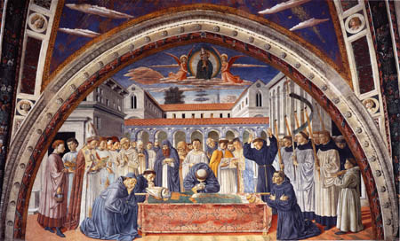 Benozzo Gozzoli - The death of Saint Augustine