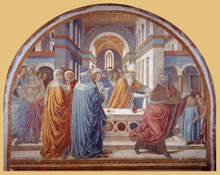 Benozzo Gozzoli - Tempelgang Joachims