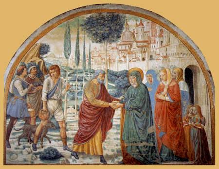 Benozzo Gozzoli - Meeting at the gold gate