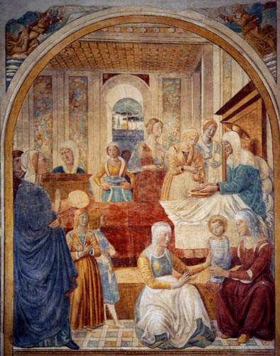 Benozzo Gozzoli - The Birth of the Virgin