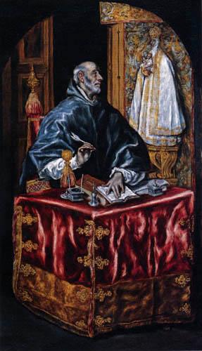 El Greco (Doménikos Theotokópoulos) - Saint Ildefonso