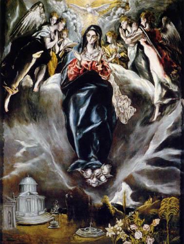 El Greco (Doménikos Theotokópoulos) - Unbefleckte Empfängnis