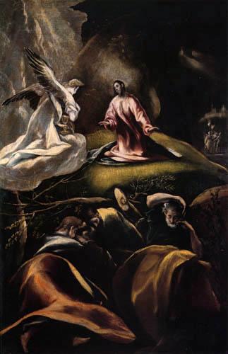 El Greco (Doménikos Theotokópoulos) - Christus am Ölberg