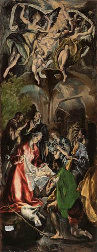 El Greco (Doménikos Theotokópoulos) - Die Anbetung der Hirten