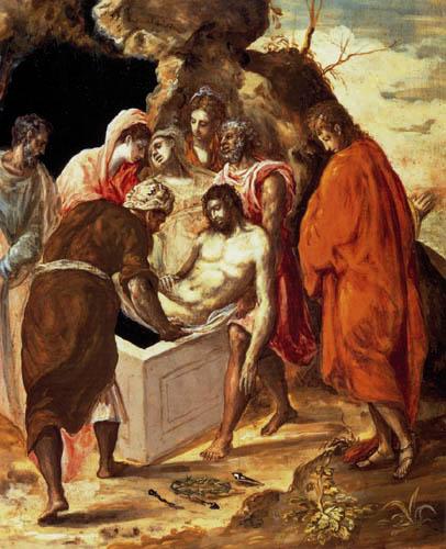 El Greco (Doménikos Theotokópoulos) - Grablegung