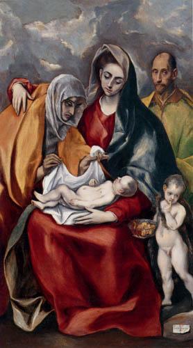 El Greco (Doménikos Theotokópoulos) - Die hl. Familie