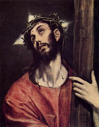 El Greco (Doménikos Theotokópoulos) - Kreuztragender Christus