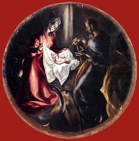 El Greco (Doménikos Theotokópoulos) - Christi Geburt