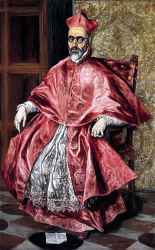 El Greco (Doménikos Theotokópoulos) - Der Kardinal Niño de Guevara