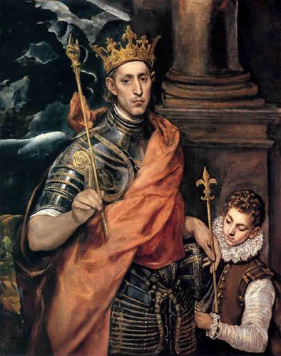 El Greco (Doménikos Theotokópoulos) - Saint Louis, König von Frankreich