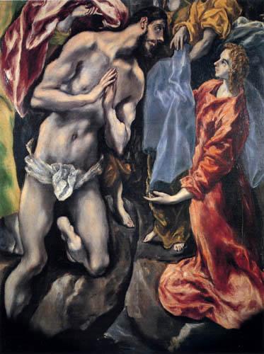 El Greco (Doménikos Theotokópoulos) - Die Taufe Christi