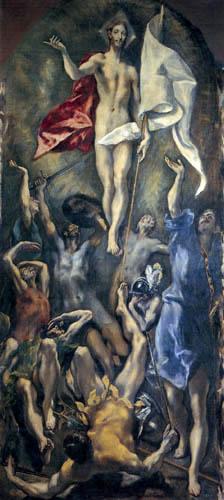 El Greco (Doménikos Theotokópoulos) - Die Auferstehung
