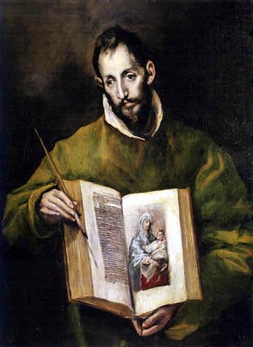 Greco El (Doménikos Theotokópoulos) - Saint Lukas