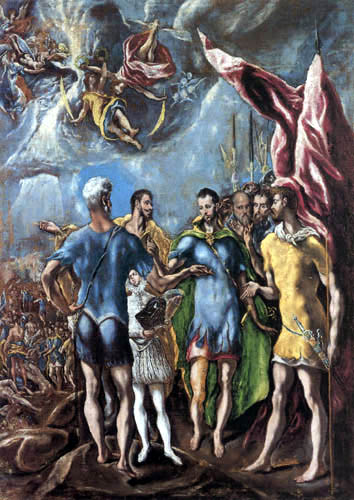 El Greco (Doménikos Theotokópoulos) - Das Martyrium des hl. Mauritius