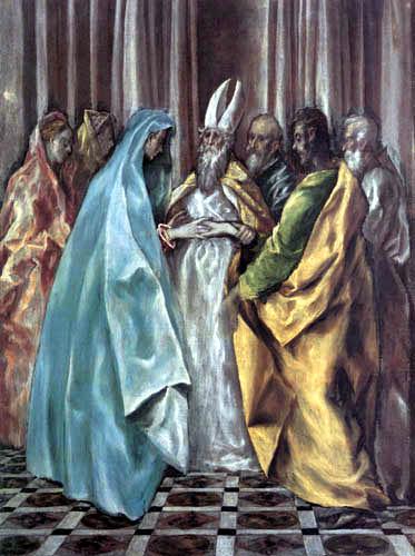 El Greco (Doménikos Theotokópoulos) - Die Verlobung Marias