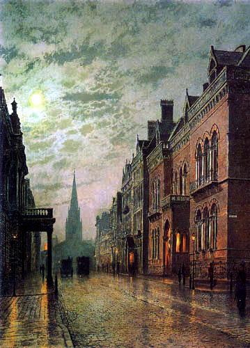 Atkinson Grimshaw - Park Row, Lleeds