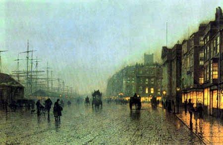 Atkinson Grimshaw - Port of Liverpool, View from Wapping