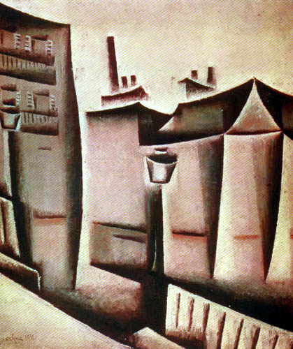 Juan Gris - Häuser in Paris