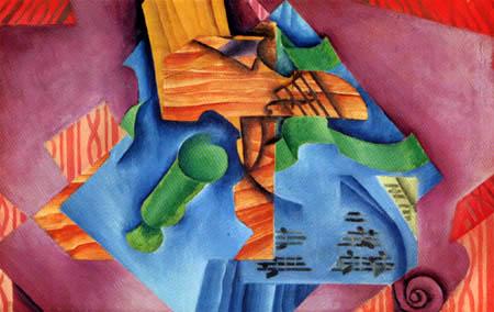 Juan Gris - Violine und Glas
