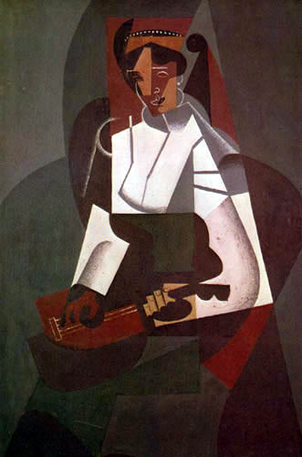 Juan Gris - Woman with mandolin (after Corot)