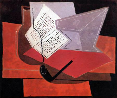 Juan Gris - Schale und Buch
