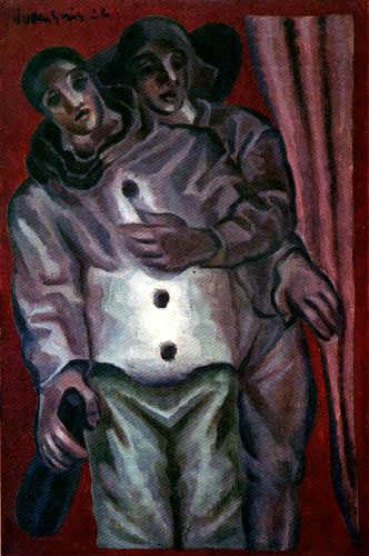 Juan Gris - Harlekin und Pierrot
