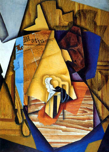 Juan Gris - El hombre en el Café