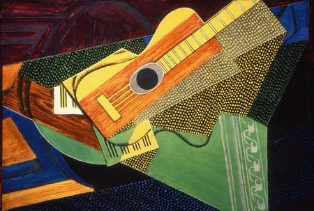 Juan Gris - Gitarre auf einem Tisch
