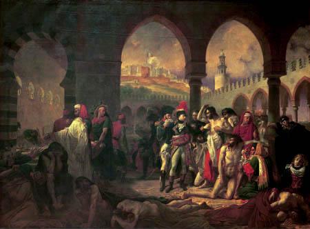 Antoine-Jean Gros - Bonaparte Visiting the Pesthouse in Jaffa