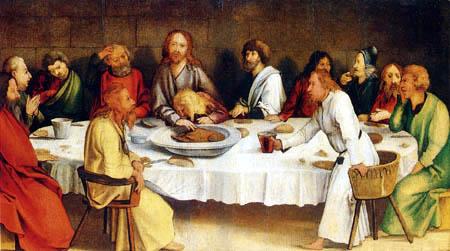 Matthias (Matthaeus, Mathis) Grünewald (Grün) - The Lord´s Supper
