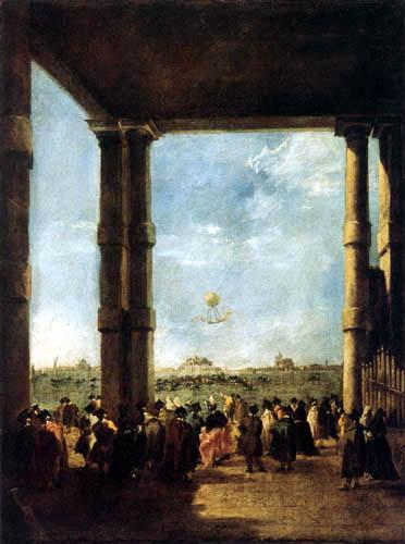 Francesco Guardi - Der Ballonaufstieg