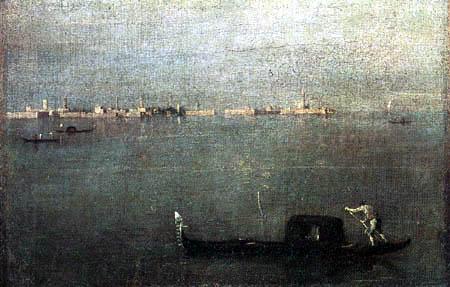 Francesco Guardi - La góndola en la laguna