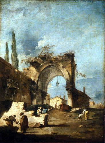 Francesco Guardi - Caprice avec une ruine
