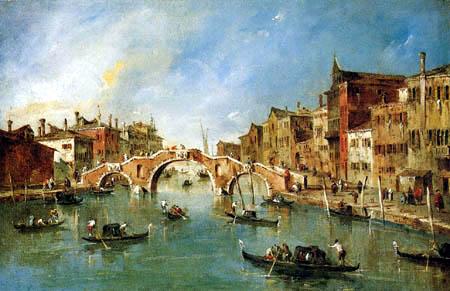 Francesco Guardi - Vue sur les Canal de Cannaregio, Venise