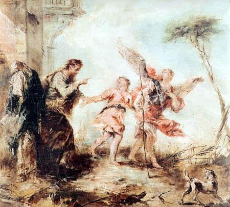 Francesco Guardi - Légende de Tobie