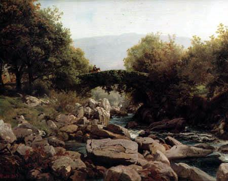 Hans Frederik Gude - Landscape in Nord Wales