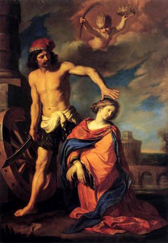 Guercino il (Giovanni Francesco Barbieri) - The Martyrdom of Saint Catherine
