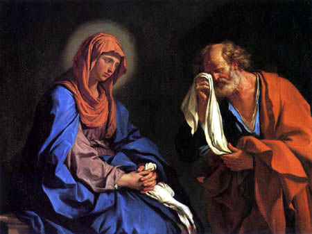 Guercino il (Giovanni Francesco Barbieri) - The tears of St. Petrus