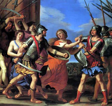 Guercino il (Giovanni Francesco Barbieri) - Hersilia trennt Romulus und Tatius