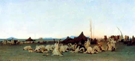 Gustave Guillaumet - Evening prayer in the Sahara