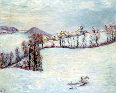 Armand Guillaumin - Saint-Sauves im Schnee