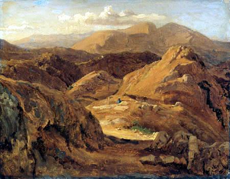 Louis Gurlitt - The mountains near Civitella