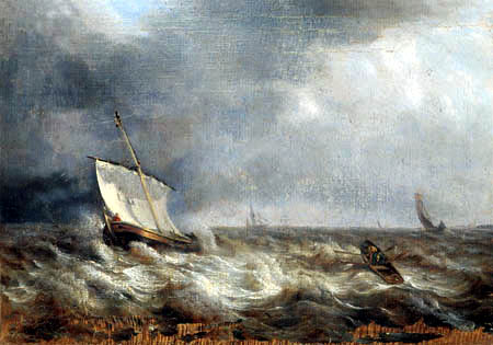 Louis Gurlitt - Boats on the stormy sea