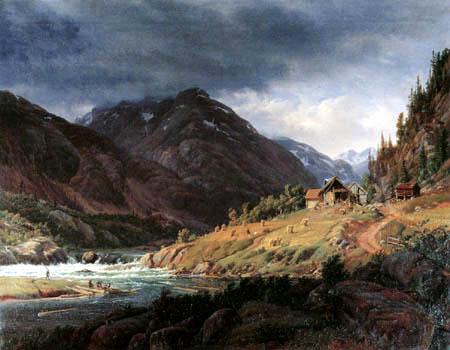 Louis Gurlitt - Vinje-Fjord in Norwegen
